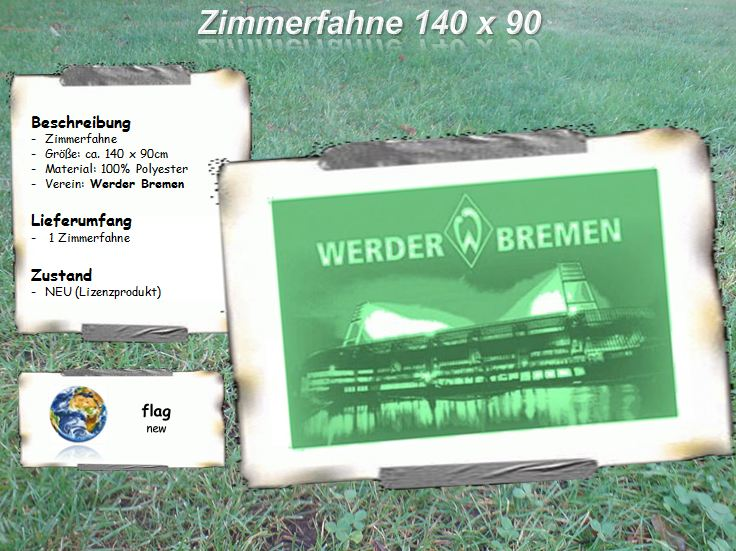 werder bremen fahne zimmerfahne flagge 140x90cm ebay. Black Bedroom Furniture Sets. Home Design Ideas